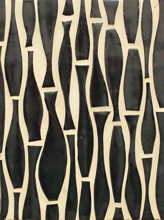 "mid century tile | Custom Made Mid-Century Cool Tile ""Swerve"" by Bonton Designs ..."