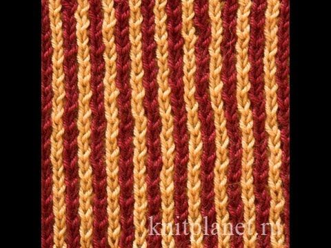 Knit Together | Two-Color Patent Rib and knitting pattern chart, Rib Stitches Patterns (Rib Knit)