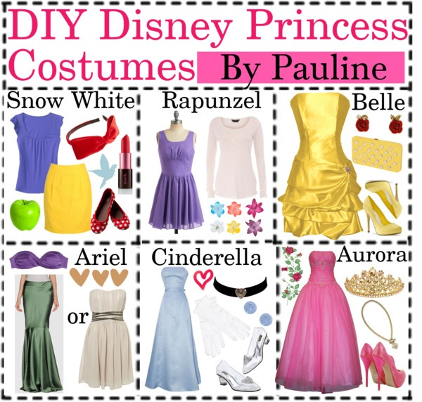 """""""DIY Disney Princess Costumes"""" by best-poly-tip-girls ❤ liked on Polyvore"""