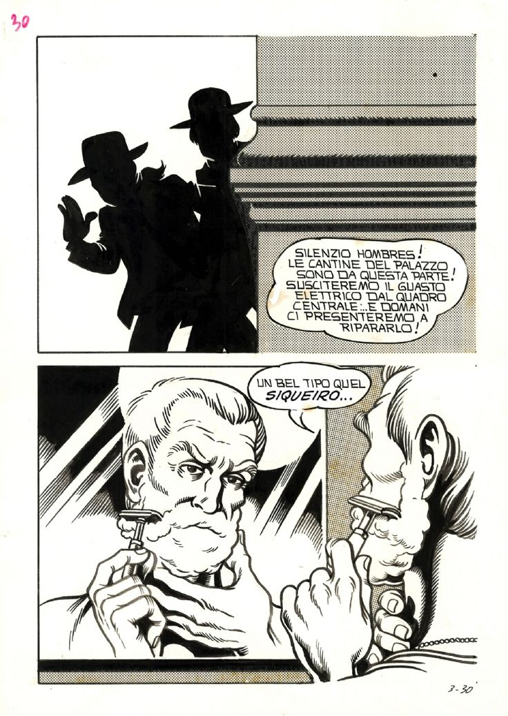 Morte A Roma - Lo Sconosciuto #3, pag. 30 (printed as 34), sept. 1975 Comic Art