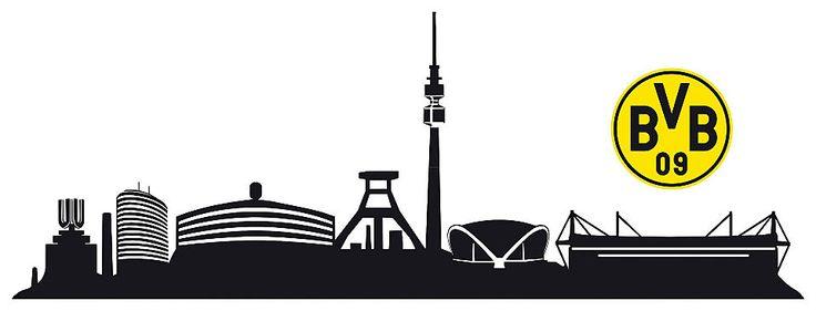 Luxury Home affaire Wandtattoo BVB Skyline mit Logo cm Jetzt bestellen