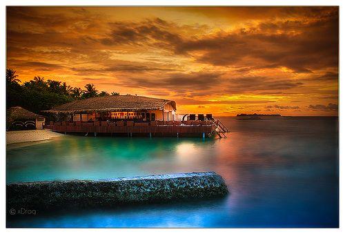 Beach Bar - Sunset by xDrag, via Flickr