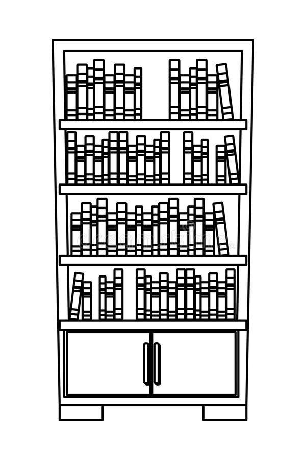 Bookcase Cartoon Black And White Book Clip Art Book Icons Bookshelf Art