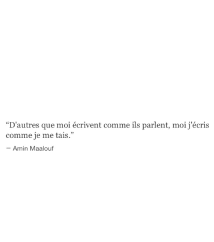 Amin Maalouf. Moi j'écris comme je me tais.
