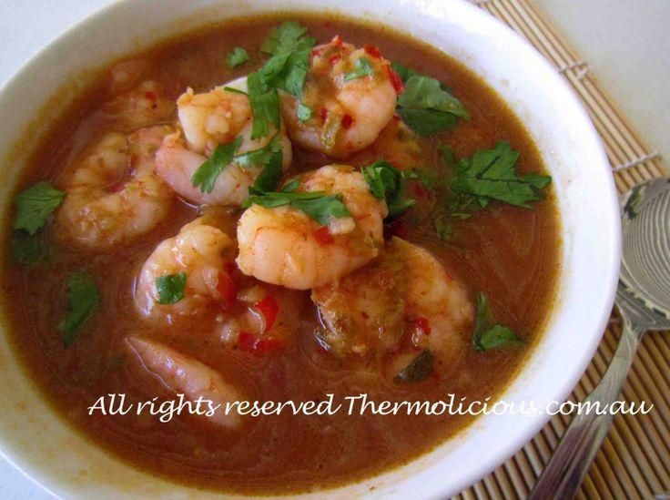 Singapore chilli prawn soup | Thermomix soup | Pinterest