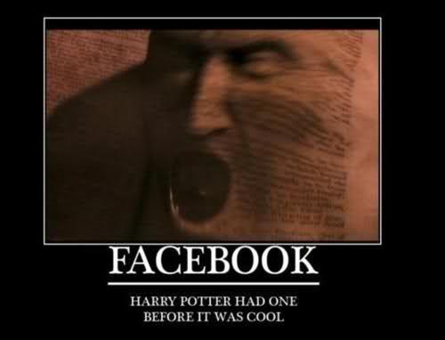 Hogwarts always had Facebook(s).... :)