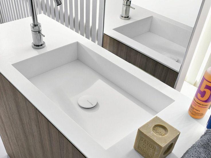Rectangular undermount Corian� washbasin CUBE by MAKRO design Makro Design