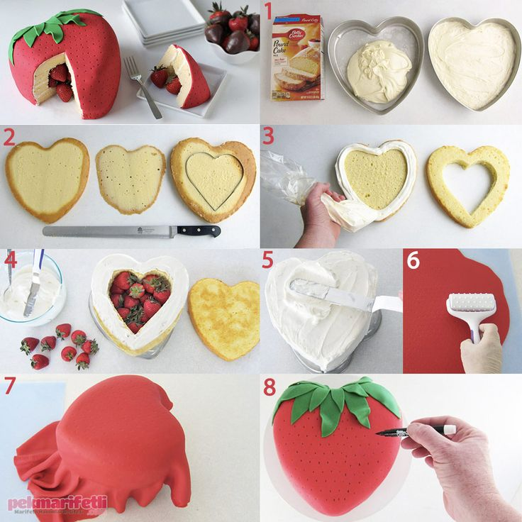 Çilek şeklinde süpriz pasta yapımı | Mutfak | Pek Marifetli!