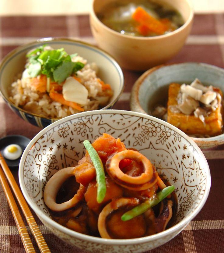「イカとジャガイモの煮物」の献立・レシピ - 【E・レシピ】料理のプロが作る簡単レシピ/2015.12.28公開の献立です。