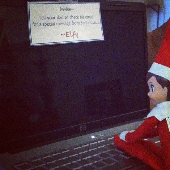 Tell ______ to check his/her email for a message from Santa ... could be a hundred different things!  :)