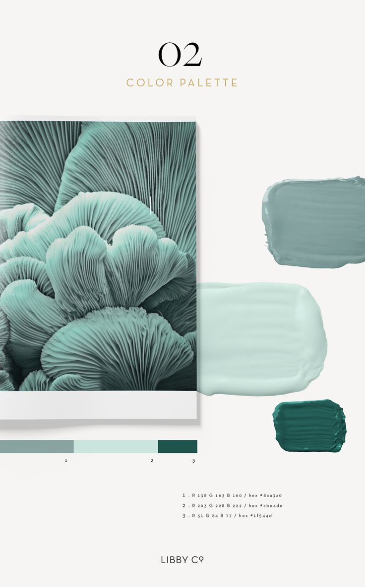 What colors are in the zen palate - July Color Palette Calming Blue Greens