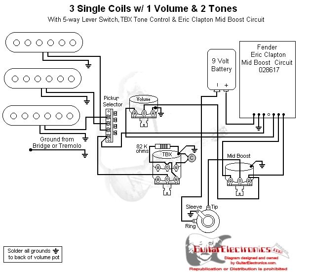 Hss Strat Wiring Diagram 1 Volume 2 Tone : 40 Wiring