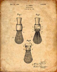 Shaving Brush Patent Print