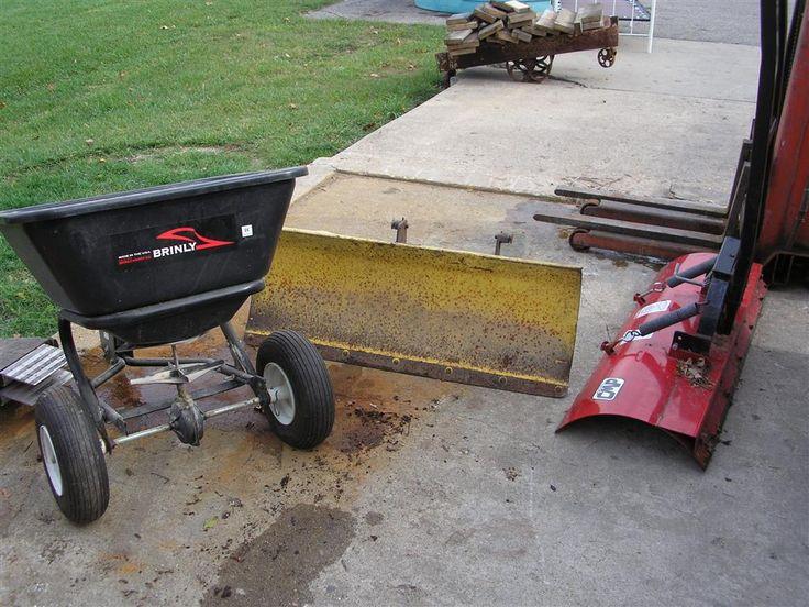 John Deere Snow Plow + ATV Snow Plow + Brinley Spreader