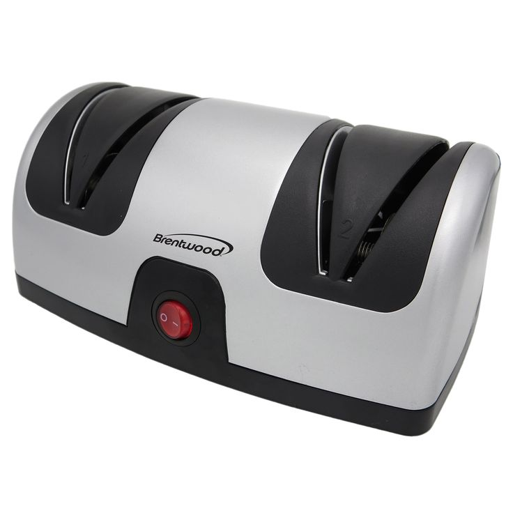 Brentwood Electric Knife Sharpener, Silver