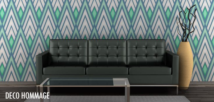 Deco Hommage- For greater visual impact, we recommend playing with the size and scale of each design- oversizing them could lead to an incredible contemporary display of style which calls the viewer to take a second, longer look at the piece.