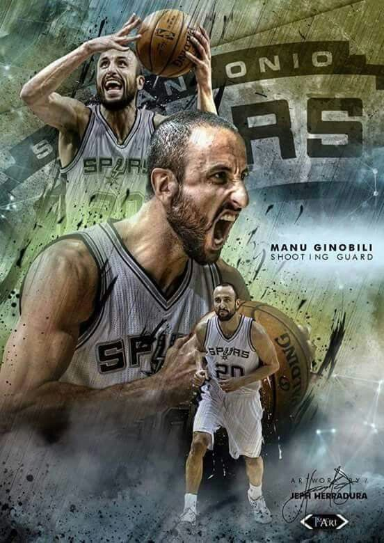 Spurs Manu Ginobili has a smooth game and plays an important role for the team.