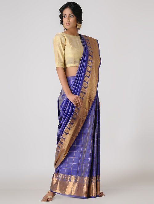 5f7f12f3f0635d Need a New Blouse Idea For Silk Saree? Here is One • Keep Me Stylish