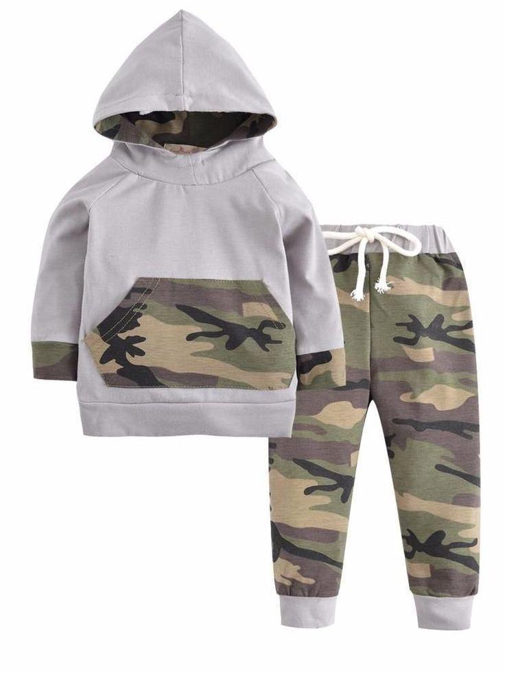 Camo Baby Boy Outfit #boyoutfits #babyboyoutfits