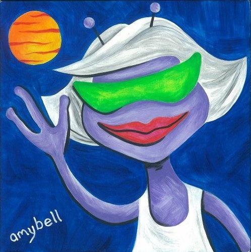Best 25 alien painting ideas on pinterest alien for Outer painting design