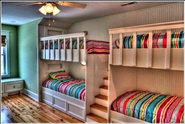Great idea for a small bedroom you need to fit four people in!