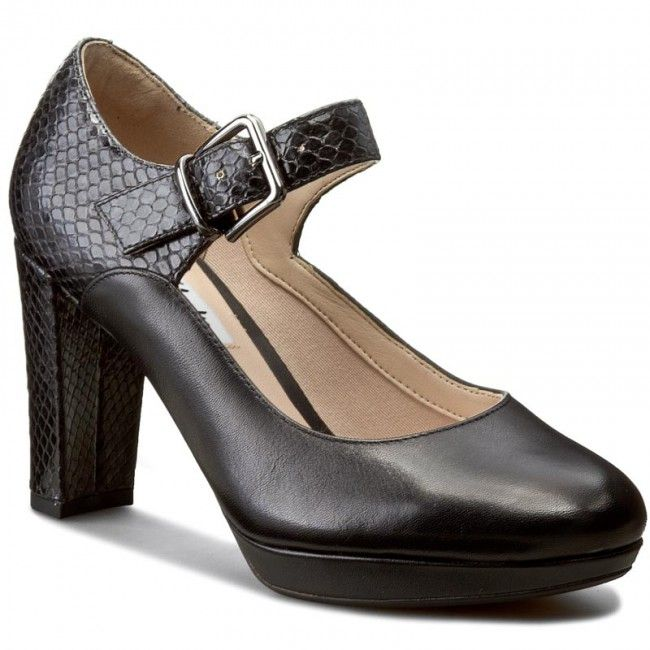 Półbuty CLARKS - Kendra Gaby 261188474 Black Leather