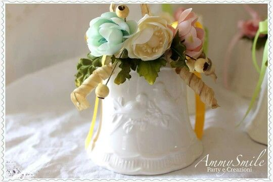 Campana porcellana  con creazioni di fiori AmmySmile