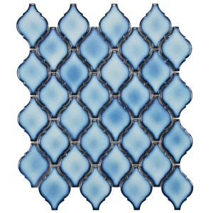 Merola Tile Arabesque Aella 9-7/8 in. x 11-1/8 in. x 6 mm Porcelain Mosaic Tile FDXARAL at The Home Depot - Mobile