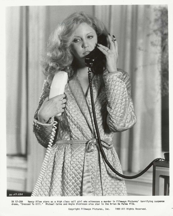 "laurapalmerwalkswithme:  Nancy Allen in ""Dressed to Kill"", 1980"