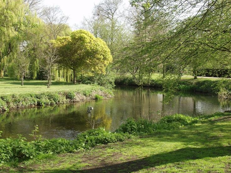 River Colne, Lower Castle Park, Colchester, Essex, England
