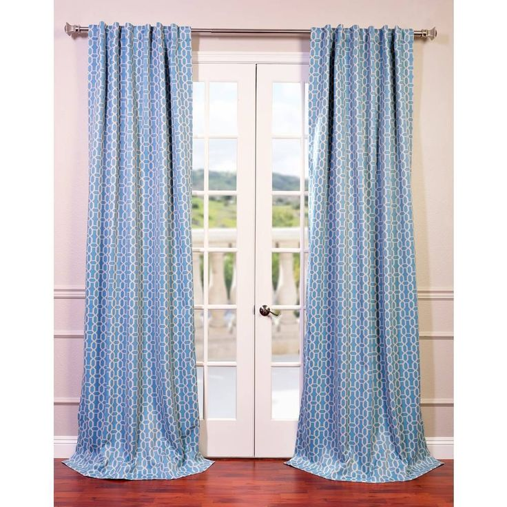 Fret Sky Blue/ Teal Blackout Curtain Panel | Overstock.com Shopping   The  Best
