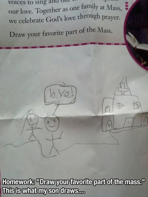 """My daughter would say her favorite part if Mass is """"the snack"""" or known as communion to the rest of us."""