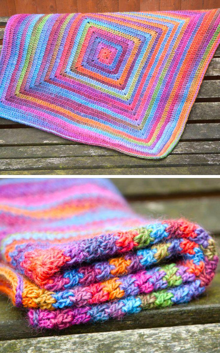 Continuous Crochet Baby Blanket (Preemie/Car Seat) Crochet Pattern