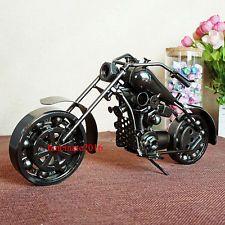 Coleccionables De Arte Escultura de 10.5 pulgadas para Motociclista Motocicleta Modelo de Metal Reciclado áspero