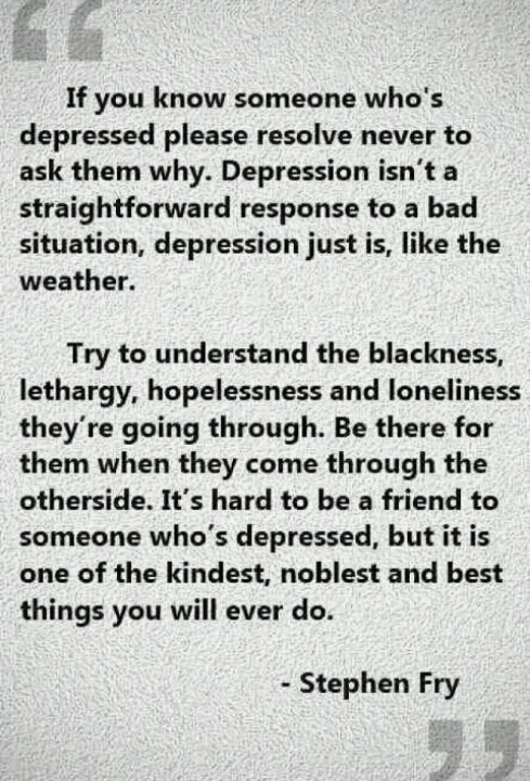 Hi everyone, what do you know about depression?