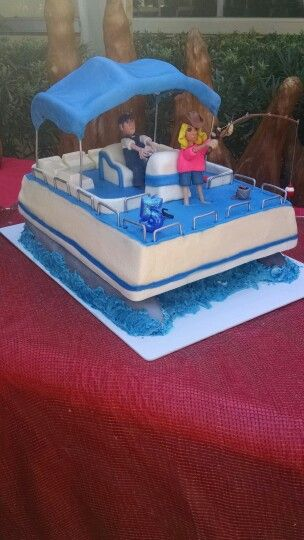 Pontoon Boat Cake My Things And Life Boat Cake Lake