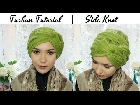 TURBAN TUTORIAL | Side knot - YouTube