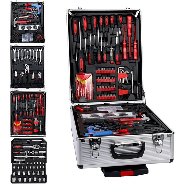 599PC Repair Tool Set Mechanics Kit Box Organize Castors Toolbox #YaeTek