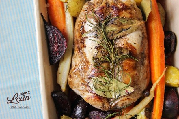 Comber z królika pieczony z warzywami - Cook it Lean - sprawdzone paleo przepisy