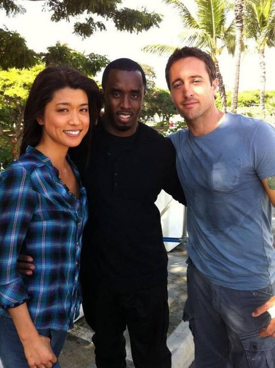 Alex O'loughlin, Grace Park, and Sean AKA Diddy
