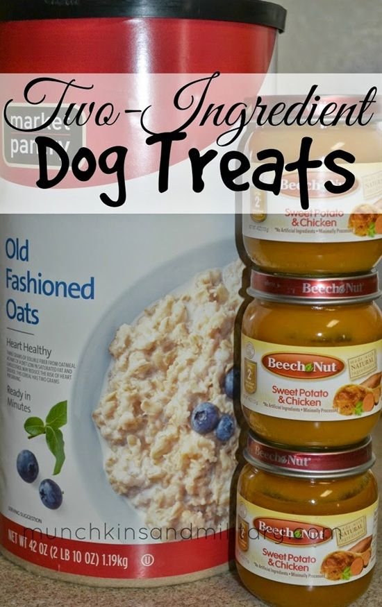 Two-Ingredients Homemade Dog Treats