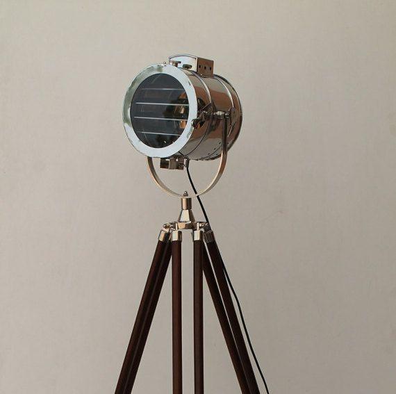Retro Chrome Shutter Corner Tripod Floor Lamp for corner sofas, living room lamp, dinning room lamp, living room corner lamp, tripod lamp