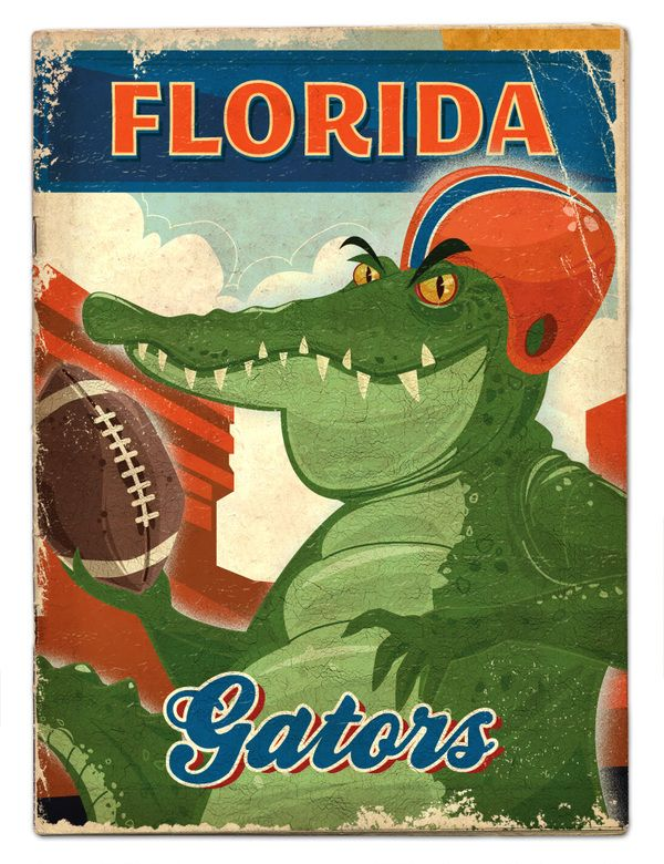 SEC football by Thomas Burns, via Behance - Pinned by SECfootball101.com