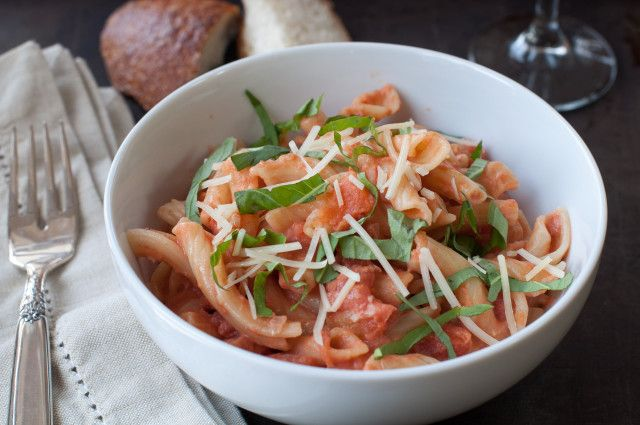 Penne a la Vodka - this would be a good valentines day dinner to make.