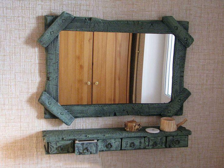 Купить Зеркало в раме - полка, ящички, рама для зеркала, рама деревянная, декоративная рама