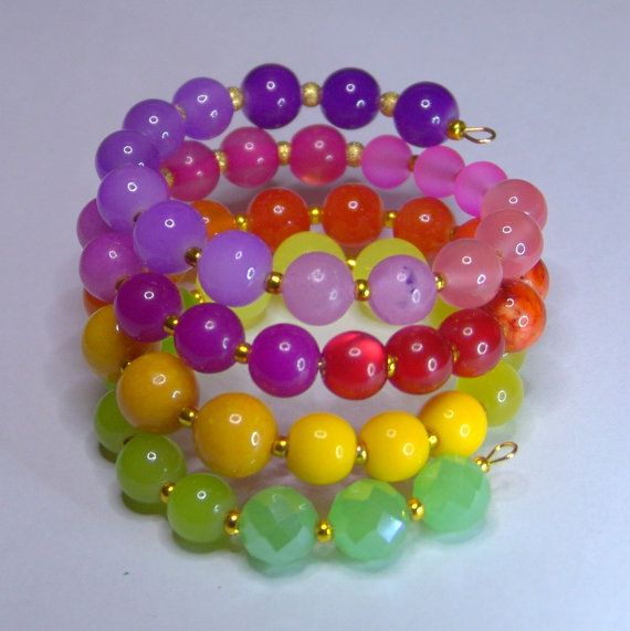 CANDY  Memory wire Bracelet by 1000and1 on Etsy, €14.00
