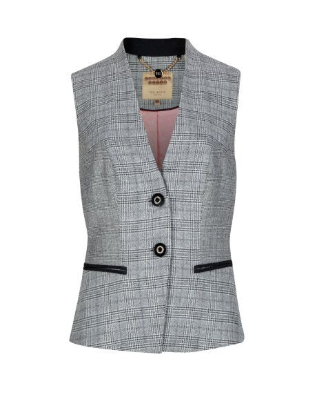 Check vest - Gray | Suits | Ted Baker