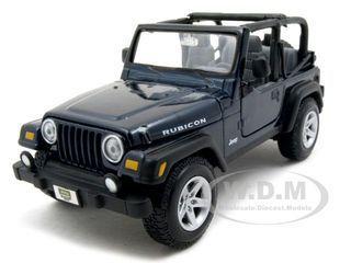 diecastmodelswholesale - Jeep Wranger Rubicon Blue 1/27 Diecast Model Car by Maisto, $13.99 (http://www.diecastmodelswholesale.com/jeep-wranger-rubicon-blue-1-27-diecast-model-car-by-maisto/)