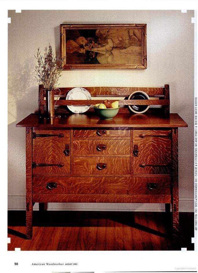 American Woodworker Stickley Style Sideboard Mission