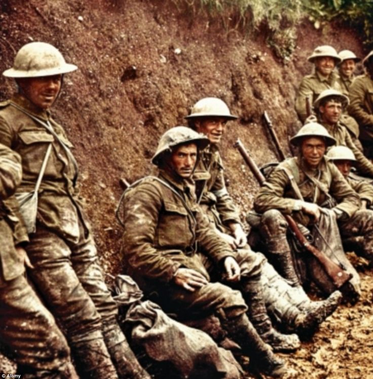 Doomed? One of the most iconic images of the war shows soldiers of the Royal Irish Rifles waiting to join the offensive on the Somme on 1 July, 1916. There were 60,000 British casualties that day - almost 20,000 died. The battle continued until mid-November, but  no other day produced  such appalling losses
